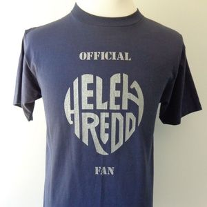 Helen Reddy Vintage Large 1970's T-Shirt Blue